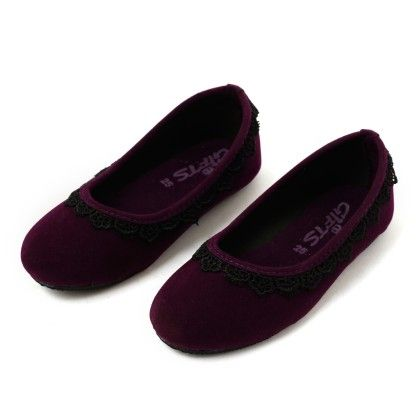 Bellies With Lace Attached - Purple - Gift Shoes