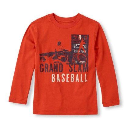 Long Sleeve 'grand Slam Baseball' Graphic Tee - The Children's Place