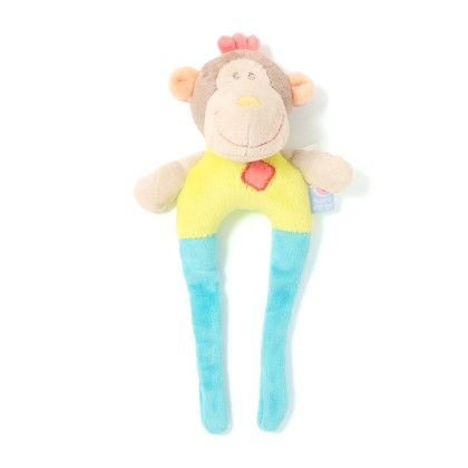 Green Monkey Baby Rattle Soft Toys - Sucre D'Orge