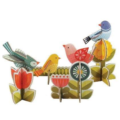 Modern Birds Pop-out - Petit Collage