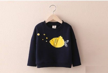 Lovely Swimming Fish Sweatshirt By  Mauve - Mauve Collection