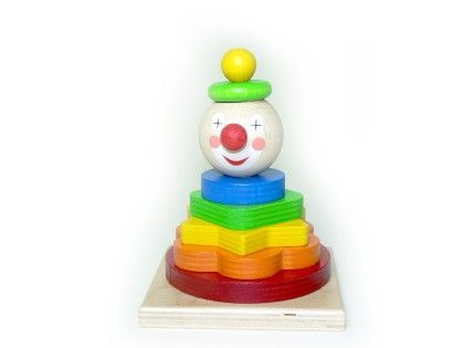 Wooden Baby Stack Tower Clown Toy - HESS
