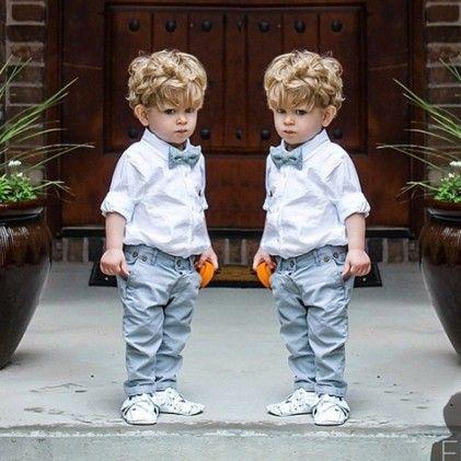 White Shirt And Denim Pant Set - Lil Mantra