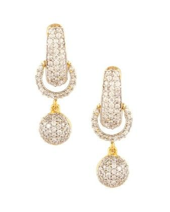 Fine Art American Diamond Studded Earrings - Fashion Fiesta