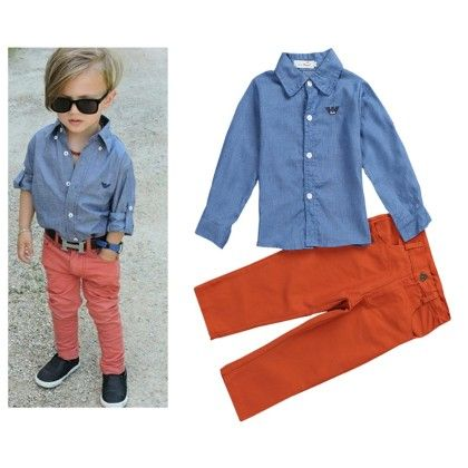 Aww Hunnie Boys Shirt & Jeans Set-blue - Aww Hunnie!!