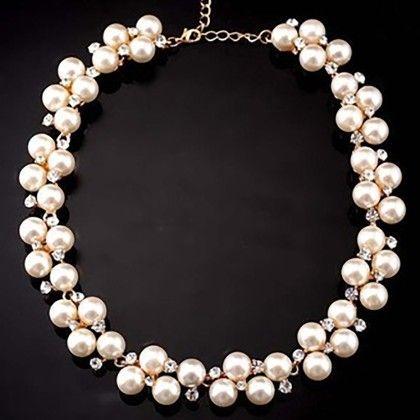 Fashion Hot Sale Pearl Choker Statement Necklace Jewelry - The Dressing Loft