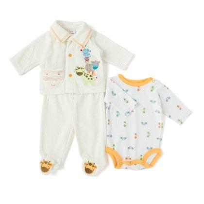 Wonderkids Baby Onesies - White & Orange - Wonder Kids