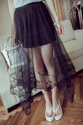 Black Net Skirt - Oomph
