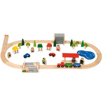 Village Train Set - Big Jig Toys
