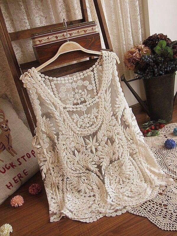 Cotton Lace White Shrugs - Dells World