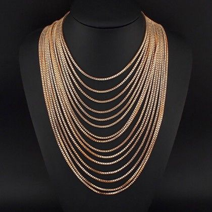 Vintage Multi Layered Chain Necklace - The Dressing Loft