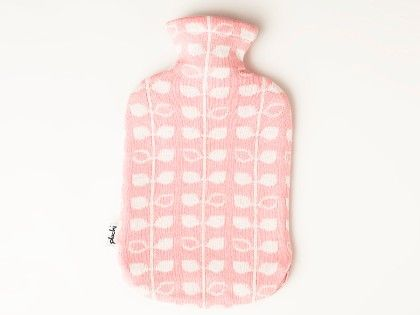 Knitted Hot Water Bottle Cover- Pink & Natural - Pluchi