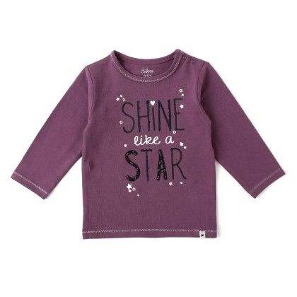 Baby Girls Long Sleeves T-shirt With Print - Purple - Babeez