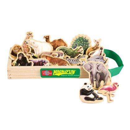 Wild Animals Wooden Magnets 20 Piece Magnafun Set - TS Shure
