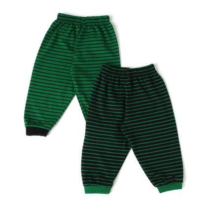 Green And Back Leggings Pack Of 2 - Ollypop