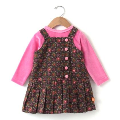 Pink Cotswool Prints With Sheer Inner Baby Frock - Yellow Duck