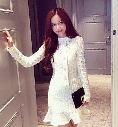 White -dress - Drape In Vogue