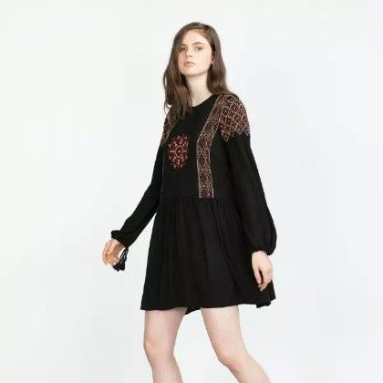 Black Boho Dress - Oomph