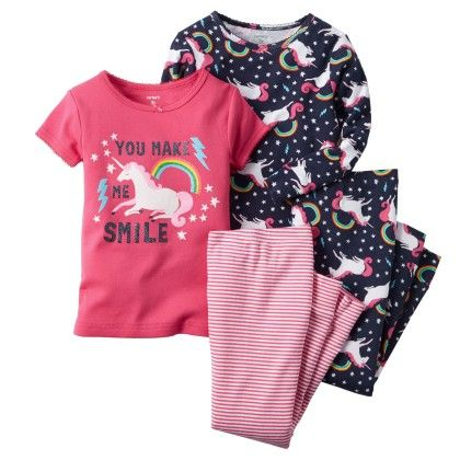 4-piece Snug Fit Cotton Pjs - Carter's