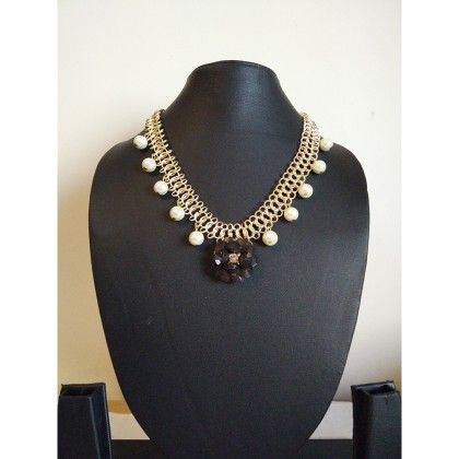 Necklace With Black Stone - Trendy And Style