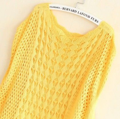 Crochet Yellow Tops - Dells World
