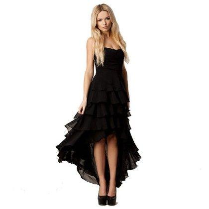 Ruffled High Low Dress - Oomph