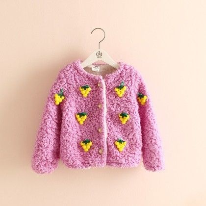 Grapes Embossed Sweater By Mauve - Mauve Collection