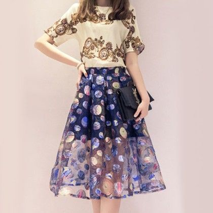 Skirt Top Vintage Collection(blue) - Oomph