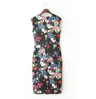 Womens Flower Printed Dress Multi - Drape In Vogue