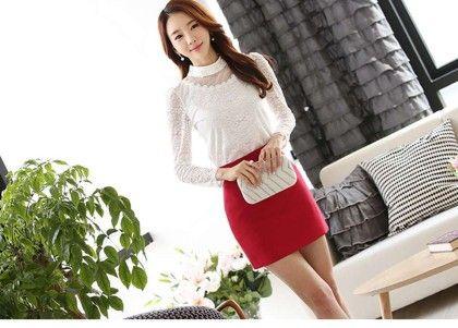 Cotton Lace White Tops - Dells World