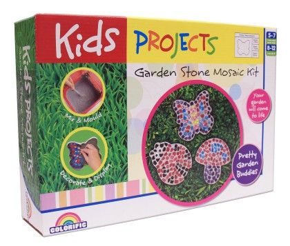 Kids Projects Decorate & Mosaic Stone - Cutie Garden - Colorific Education