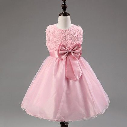 Princess Flower Tutu Dress Pink - Angel Closet