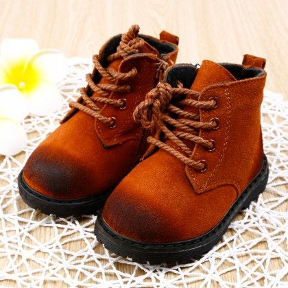 Brown Shaded Boots With Laces - Smart Shoes