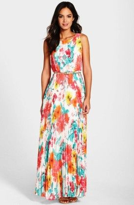 Sleeveless Long Chiffon Party Dress - Dell's World