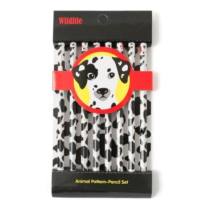 Animal Print Pencils (set Of 8) - Dalmation - It's All About Me