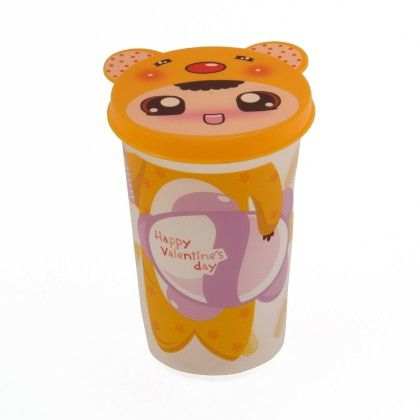 Unbreakable Glass With Lid- Yellow Doll With Cap - It's All About Me