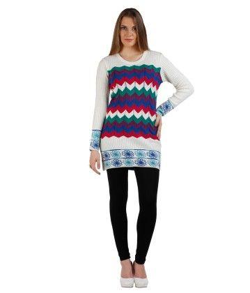 Geometric Designed Womens Sweater- Multi - SKILDERS