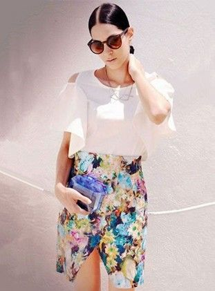 Floral Print Dress - Drape In Vogue
