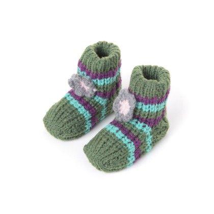 Woolen Booties Dk. Green - Janya - 232882