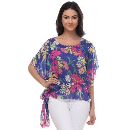 Multi-colour Side Knot Top - Varanga - 244457