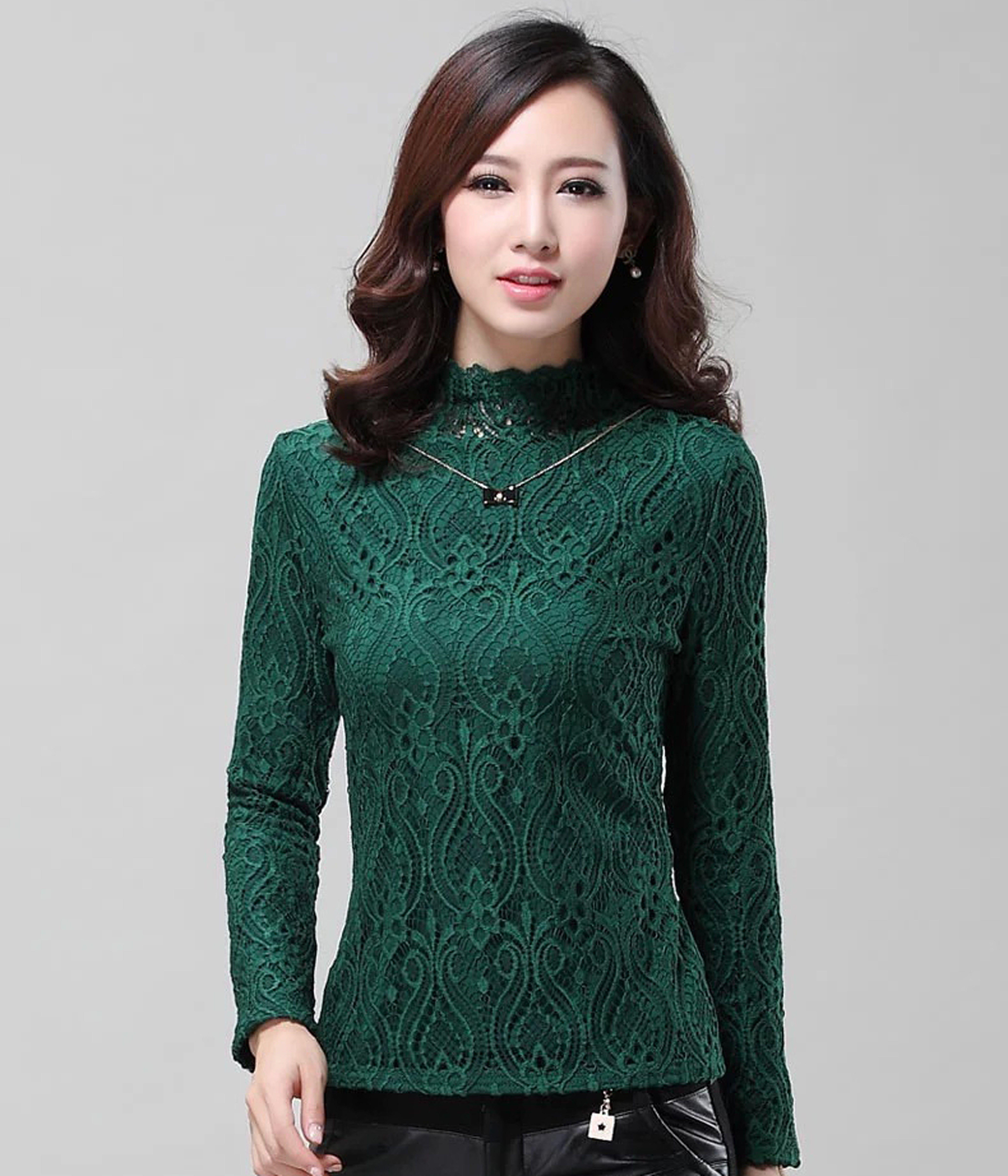 Green Lace Sweat T Shirt - STUPA FASHION