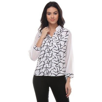 White Criss-cross Shirt - Varanga