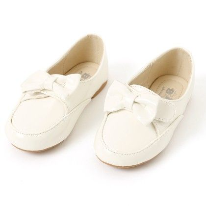 Belly Shoes With Bow Applique - White - BASH