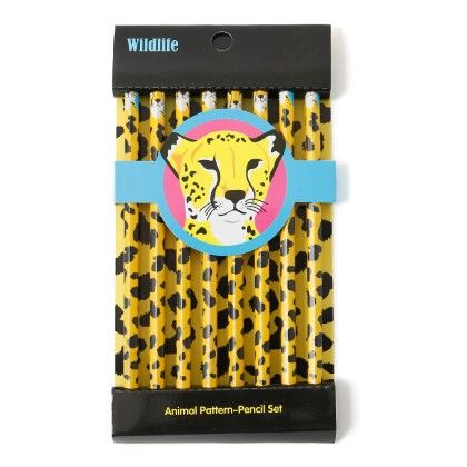 Animal Print Pencils (set Of 8) - Leopard - It's All About Me