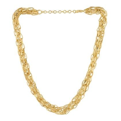 Multi Layered Chain Necklace In Gold - Voylla