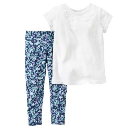 2-piece French Terry Top & Legging Set - Off White - Carter's