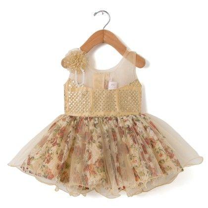 Orange Floral Print Dress - My Princess
