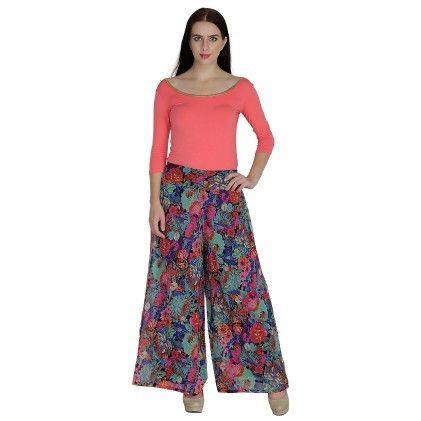 Regular Fit Womens Trousers Multi - Shopingfever