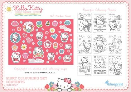 Giant Colouring Set 2 - Hello Kitty