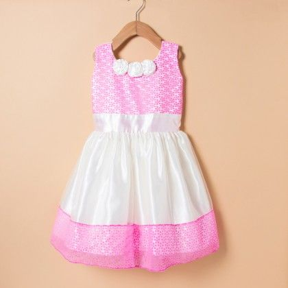 Light Pink Dots Net Dress - Winakki Kids